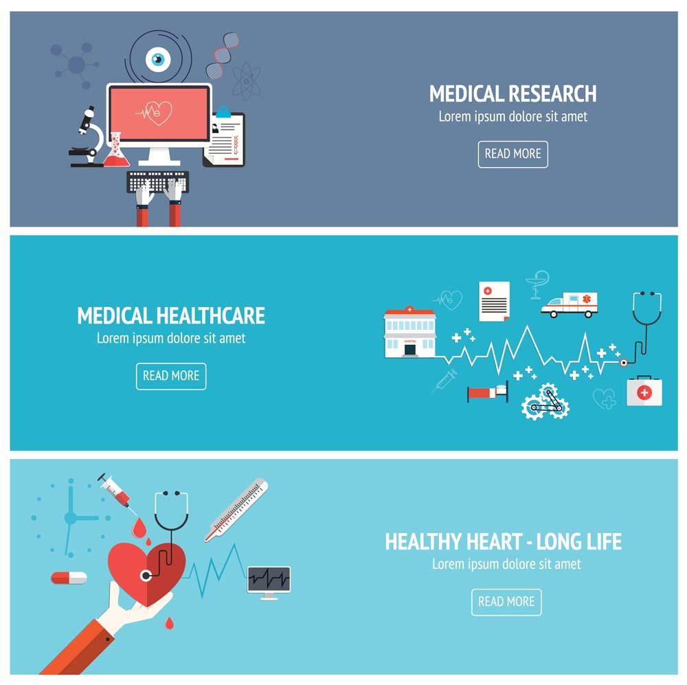 flat medical banners 7 كفرات فيس بوك و تويتر للاطباء