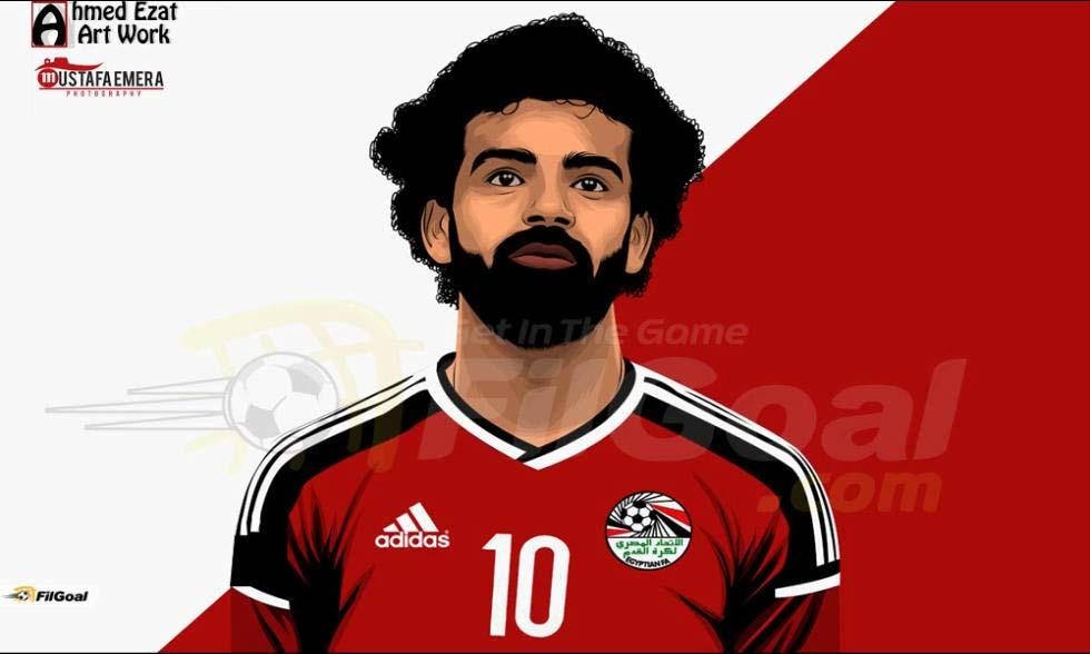 mohamed salah vector 10 فيكتور جرافيك محمد صلاح