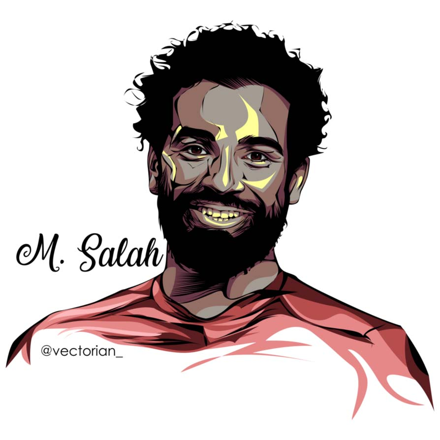 mohamed salah vector 4 1 فيكتور جرافيك محمد صلاح