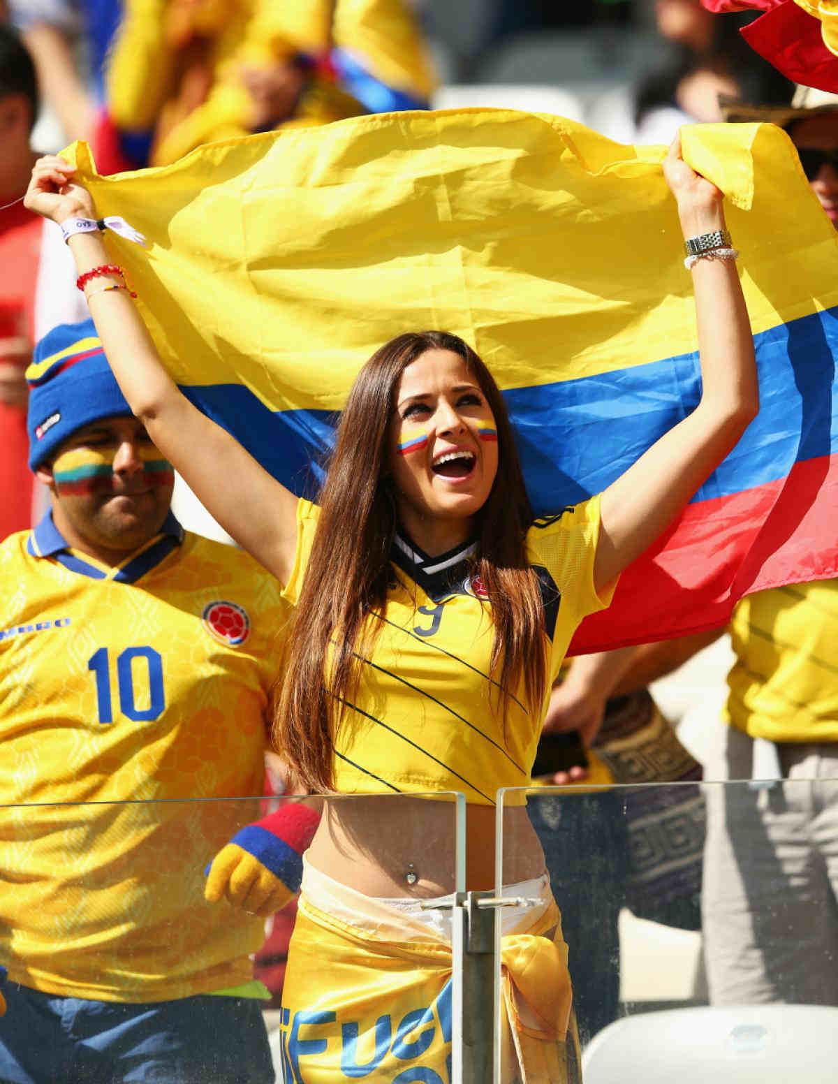 2. Colombia 10 دول مع جماهير كرة القدم الأكثر جاذبية في كأس العالم
