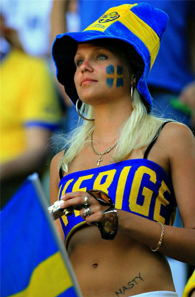 7. Sweden 10 دول مع جماهير كرة القدم الأكثر جاذبية في كأس العالم