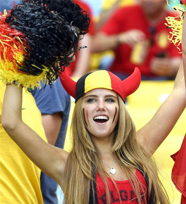 8. Belgium 1 10 دول مع جماهير كرة القدم الأكثر جاذبية في كأس العالم