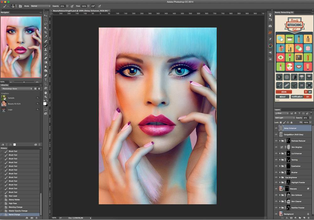 Beauty Retouching Kit 3 افضل أداه للمصورين beauty retouching kit