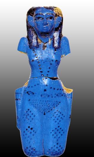 Concubine du mort Thèbes faïence bleue XIè Dynastie Egypte Antique Concubine du mort, Thèbes, faïence bleue, XIè Dynastie, Egypte Antique
