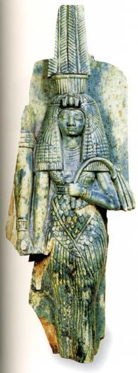 La Déesse mère Thèbes stéatite vitrifiée XVIIIè Dynastie Egypte Egypte Antique La Déesse mère, Thèbes, stéatite vitrifiée,  XVIIIè Dynastie Egypte, Egypte Antique
