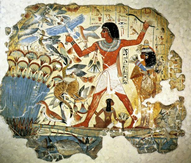 La chasse symbolique Thèbes Egypte Egypte Antique La chasse symbolique, Thèbes Egypte, Egypte Antique