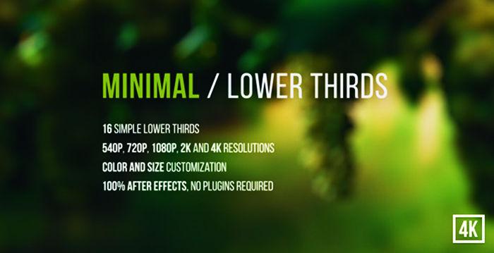 Minimal Lower Thirds After Effects Template مكتبه قوالب نصيه لبرنامج افتر افيكت