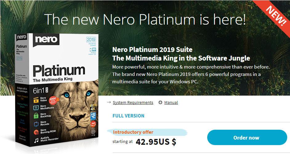 نيرو 2018 تحميل برنامج نيرو 2018 Nero Platinum