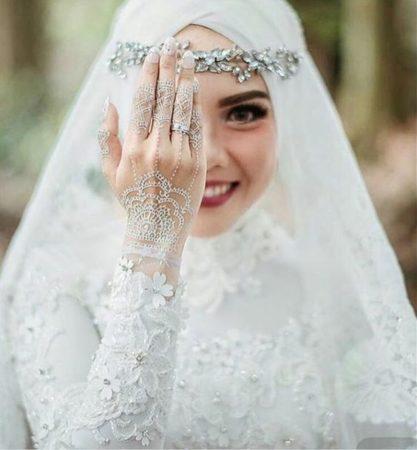 صور منتقبات ومحجبات 23 صور عروسه بالنقاب و الحجاب