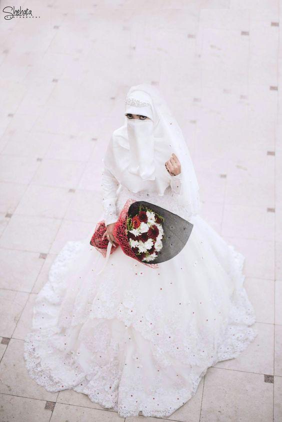 صور منتقبات ومحجبات 27 صور عروسه بالنقاب و الحجاب