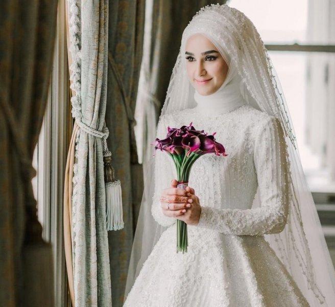 صور منتقبات ومحجبات 33 صور عروسه بالنقاب و الحجاب
