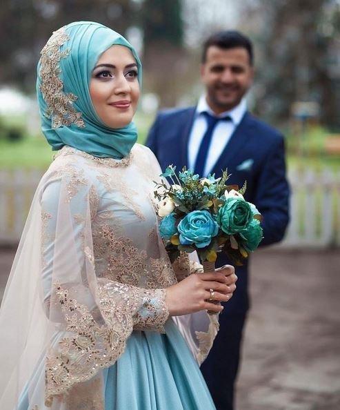 صور منتقبات ومحجبات 6 صور عروسه بالنقاب و الحجاب