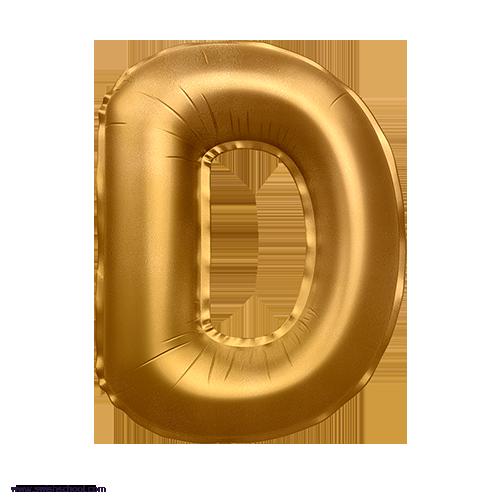D 3D Alphabet Foil Balloon in PNG حروف بالونات الهيليوم كامله