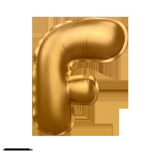F 3D Alphabet Foil Balloon in PNG حروف بالونات الهيليوم كامله