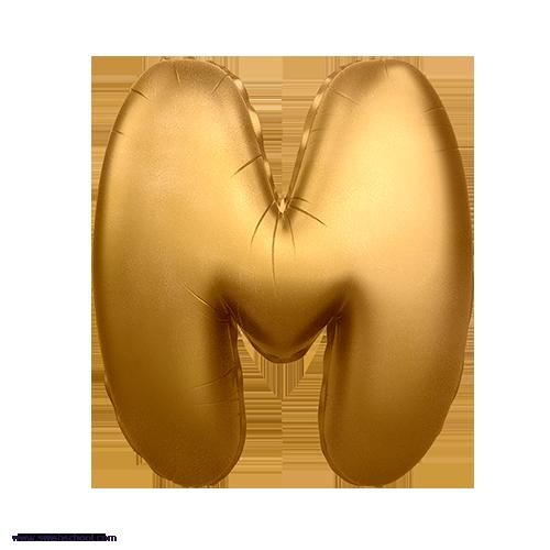 M 3D Alphabet Foil Balloon in PNG حروف بالونات الهيليوم كامله