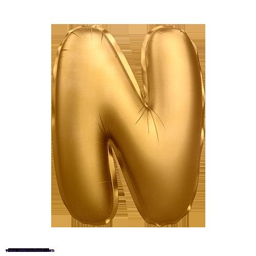 N 3D Alphabet Foil Balloon in PNG حروف بالونات الهيليوم كامله