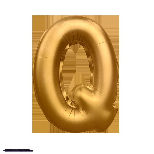 Q 3D Alphabet Foil Balloon in PNG حروف بالونات الهيليوم كامله