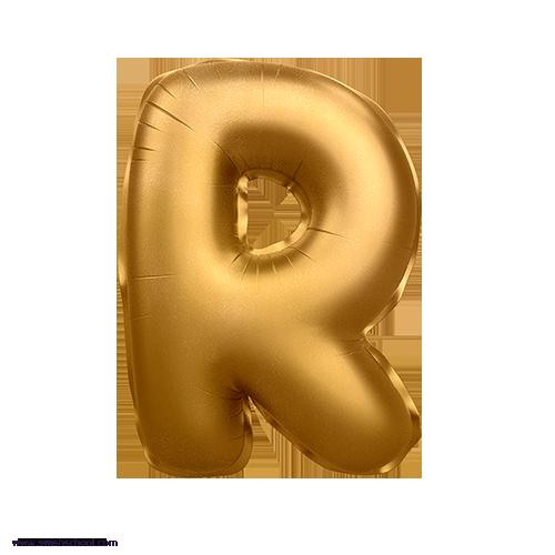 R 3D Alphabet Foil Balloon in PNG حروف بالونات الهيليوم كامله