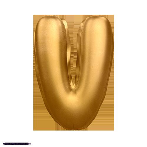 V 3D Alphabet Foil Balloon in PNG حروف بالونات الهيليوم كامله
