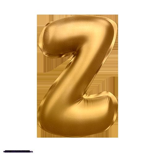 Z 3D Alphabet Foil Balloon in PNG حروف بالونات الهيليوم كامله