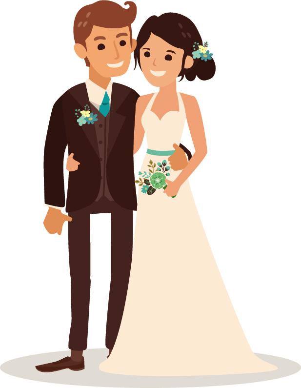 wedding cartoon poster 1 بوستر عريس وعروسة كرتون للفرح