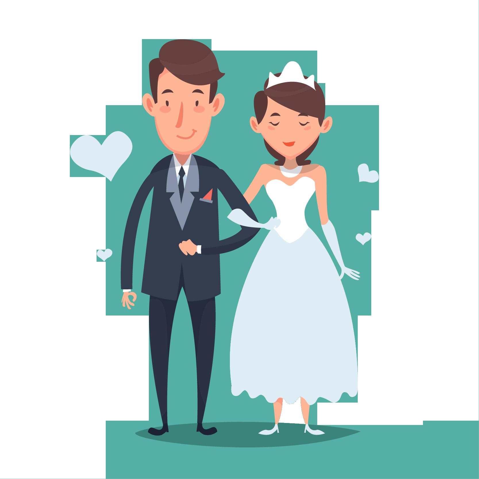 wedding cartoon poster 11 بوستر عريس وعروسة كرتون للفرح