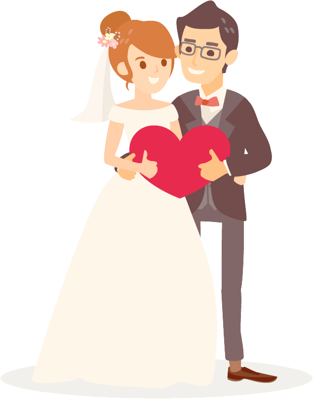 wedding cartoon poster 2 بوستر عريس وعروسة كرتون للفرح