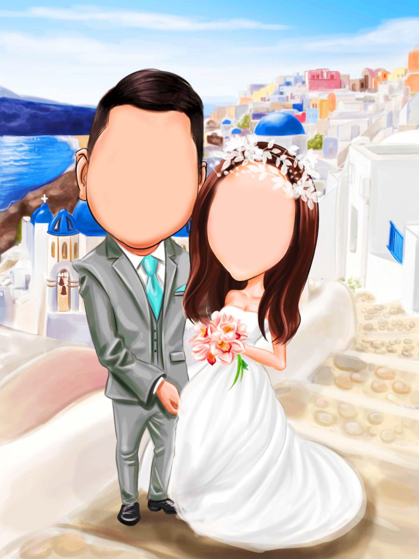 wedding cartoon poster 3 بوستر عريس وعروسة كرتون للفرح