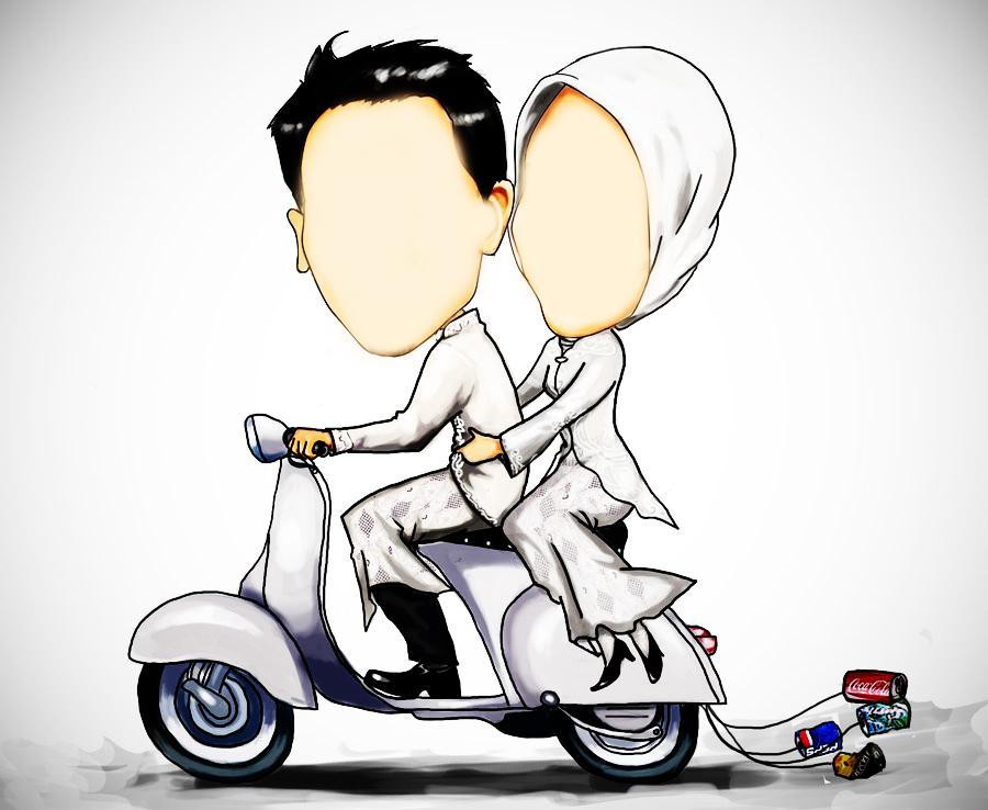 wedding cartoon poster 4 بوستر عريس وعروسة كرتون للفرح