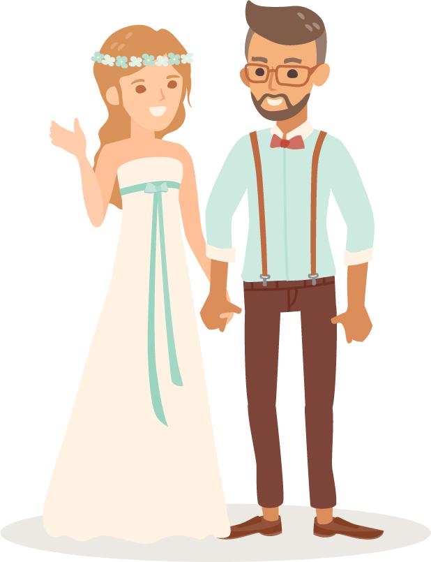 wedding cartoon poster 5 بوستر عريس وعروسة كرتون للفرح