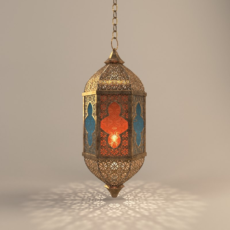Free Fanos Ramadan 3D models 3 موديلات فانوس رمضان 3D