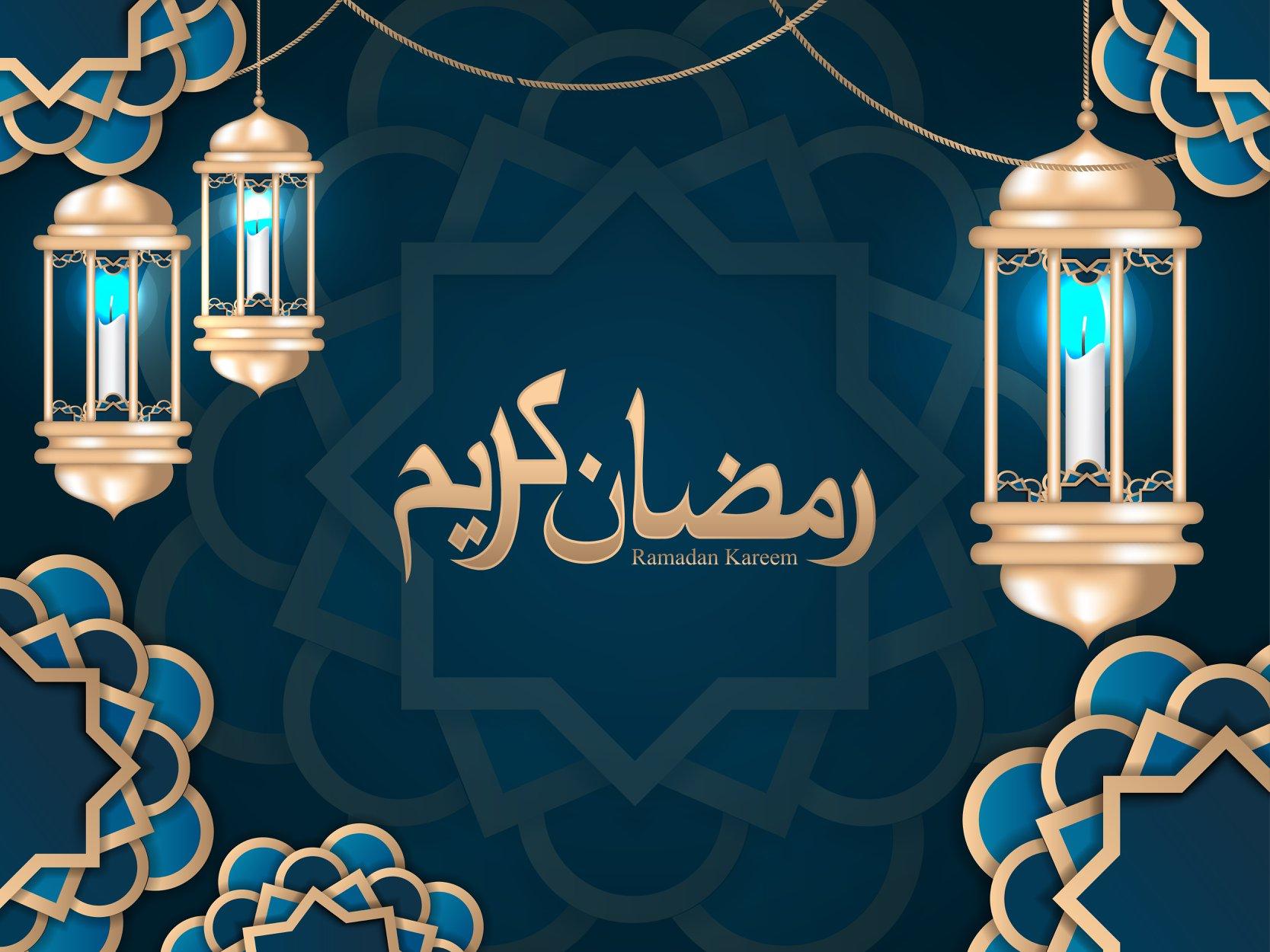 Islamic celebration background with text Ramadan Kareem 3 Islamic celebration background with text Ramadan Kareem