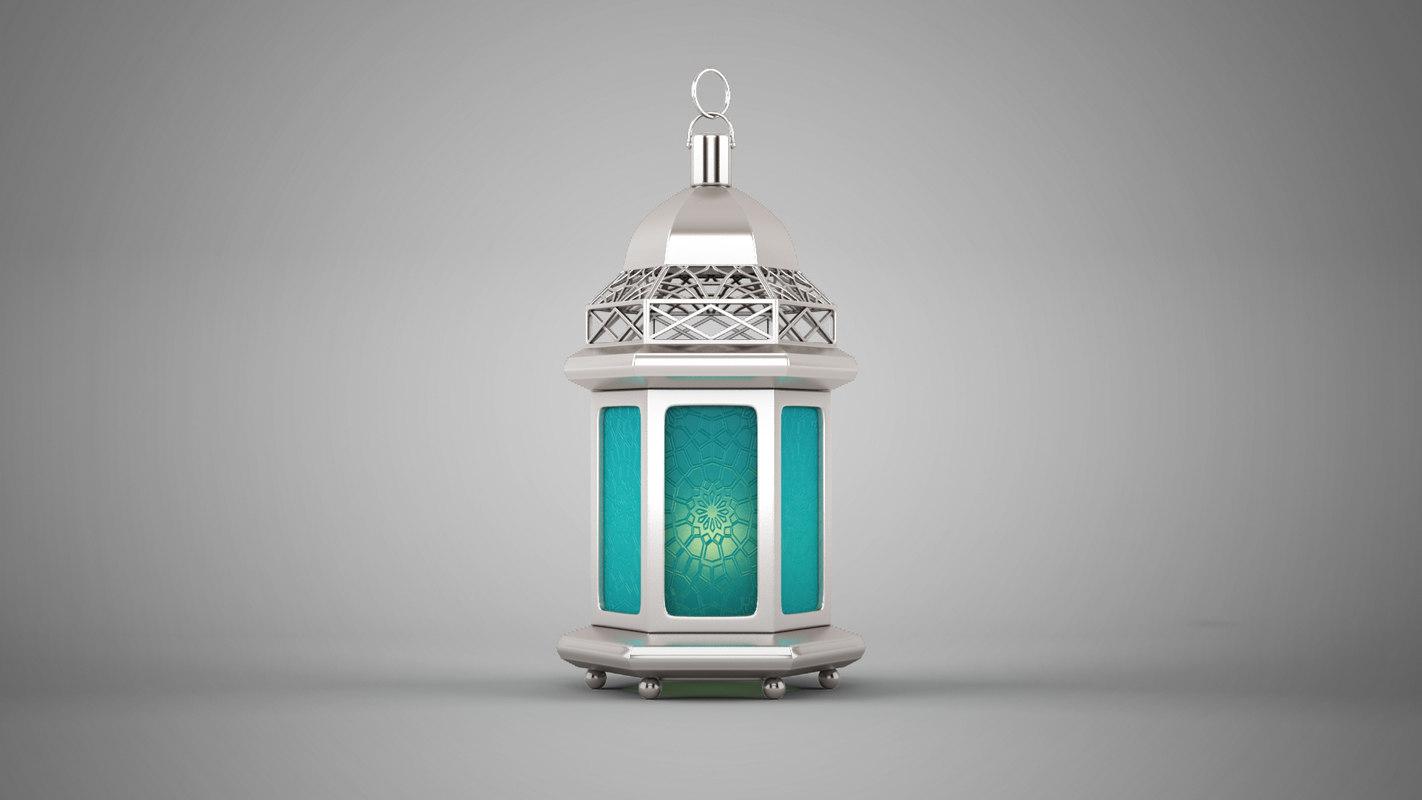islamic lantern 3D model 1 موديلات فانوس رمضان 3D