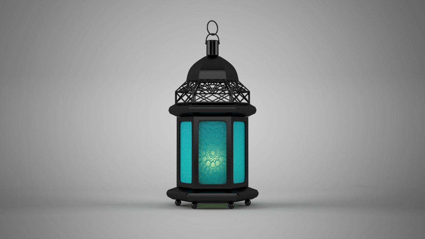 islamic lantern 3D model 2 موديلات فانوس رمضان 3D