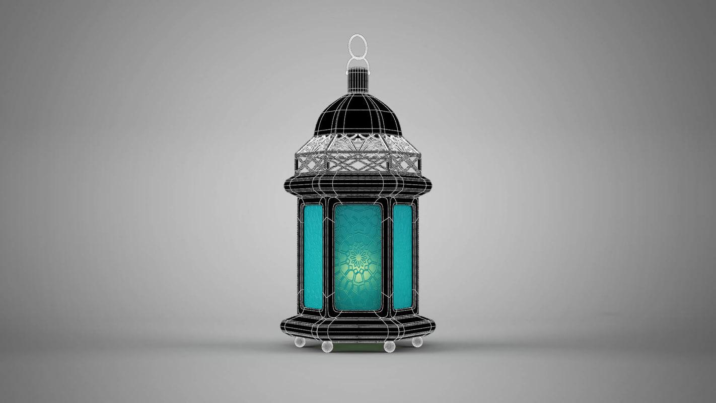 islamic lantern 3D model 3 موديلات فانوس رمضان 3D