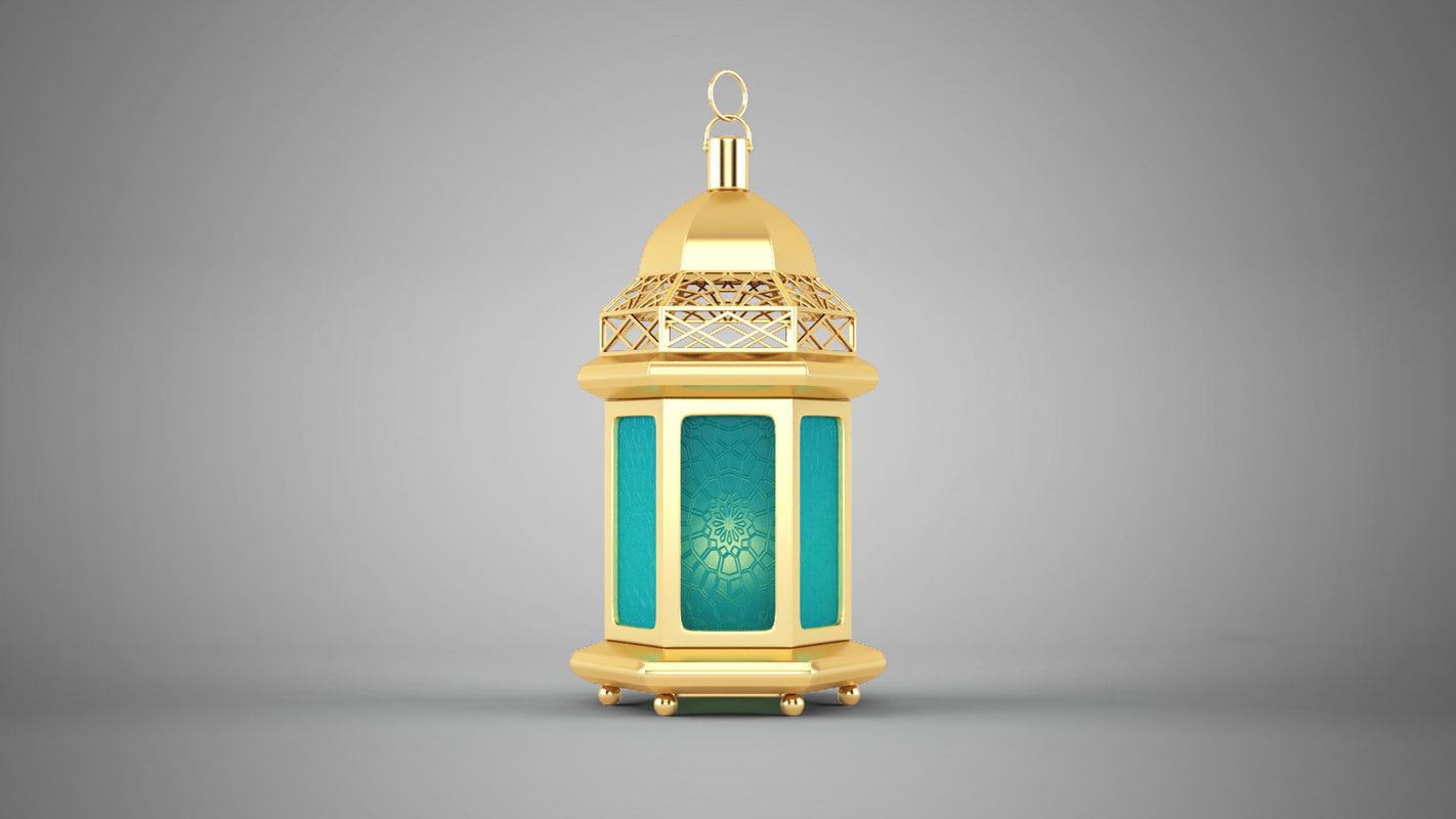 islamic lantern 3D model 4 موديلات فانوس رمضان 3D