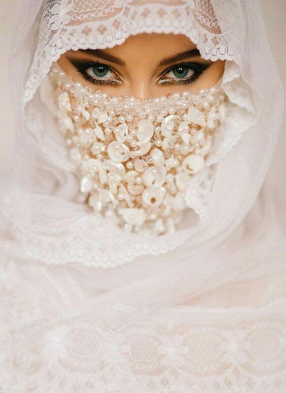 عروسه بالنقاب 2 صور بنات بالحجاب والنقاب