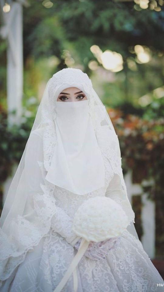عروسه بالنقاب 4 صور بنات بالحجاب والنقاب