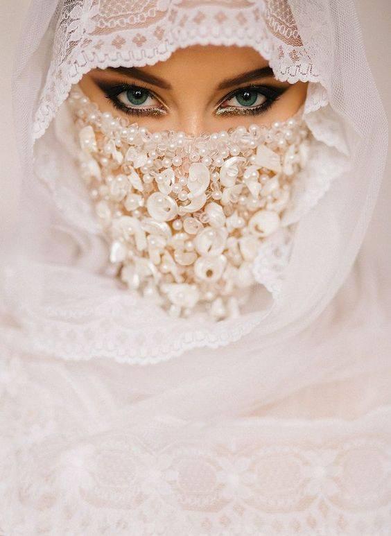 عروسه محجبه 3 صور بنات بالحجاب والنقاب