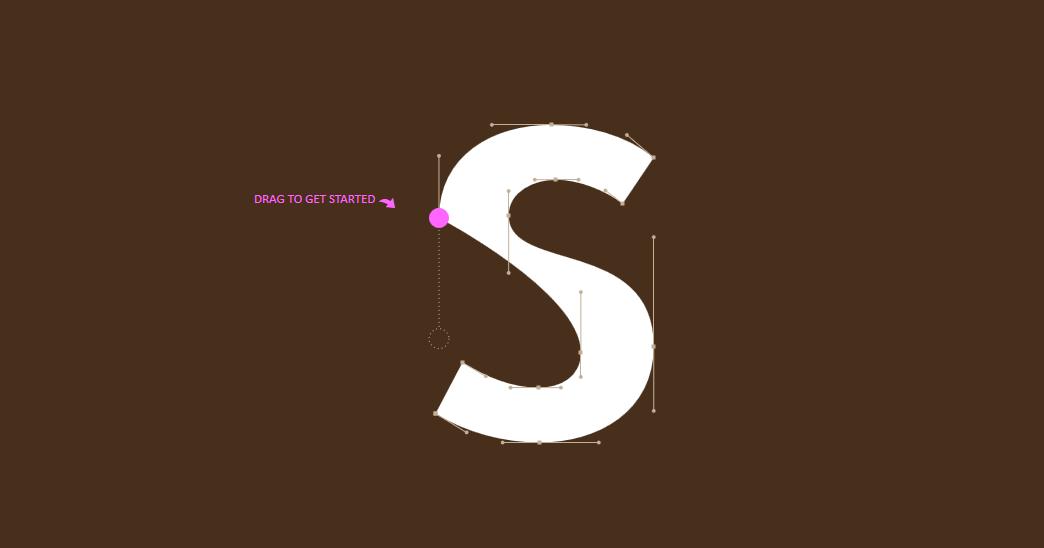 لعبه الحفاظ علي شكل الحرف بإستخدام البين تول العاب تنميه مهارات مصمم الجرافيك