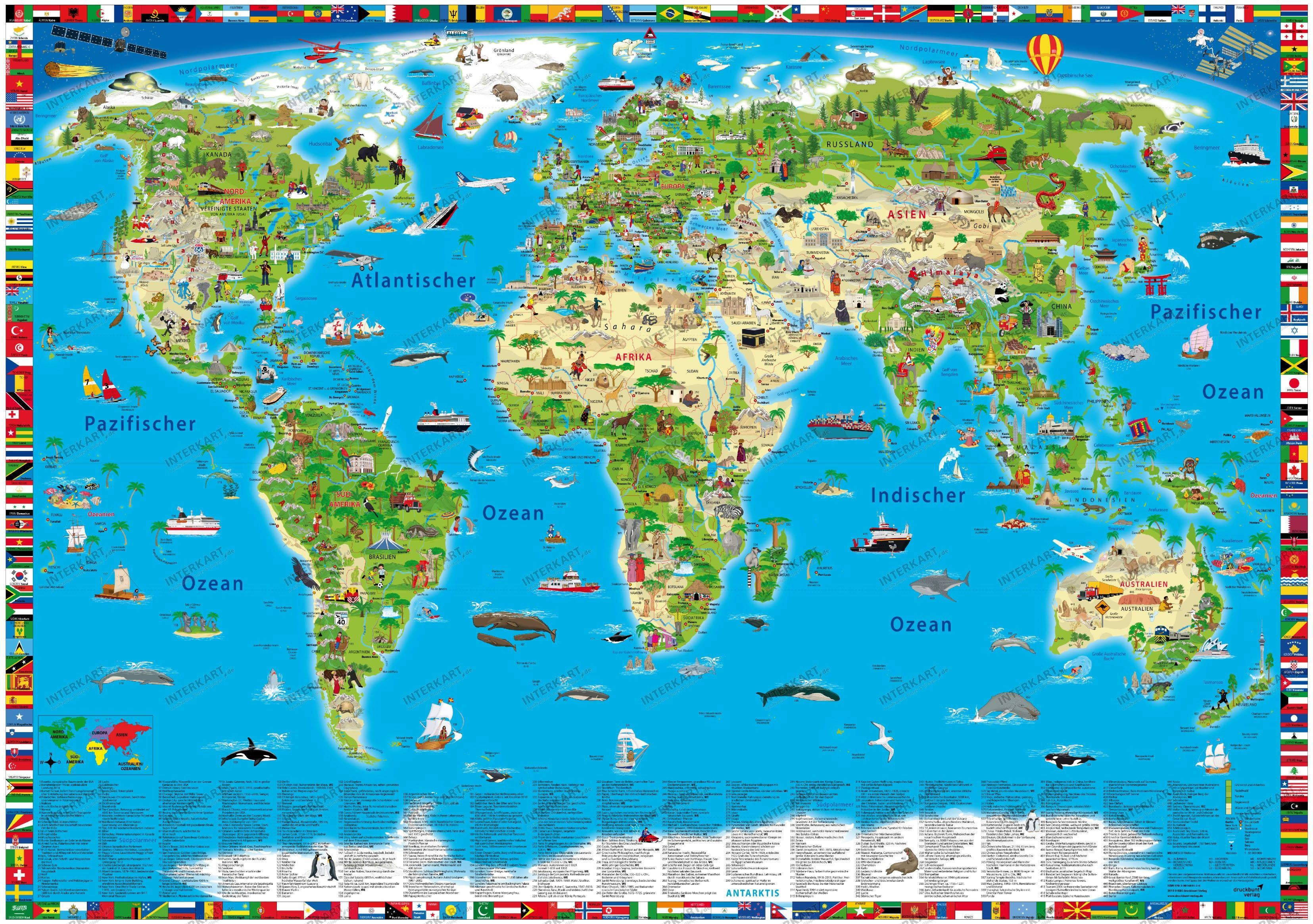خريطة العالم جرافيك مان