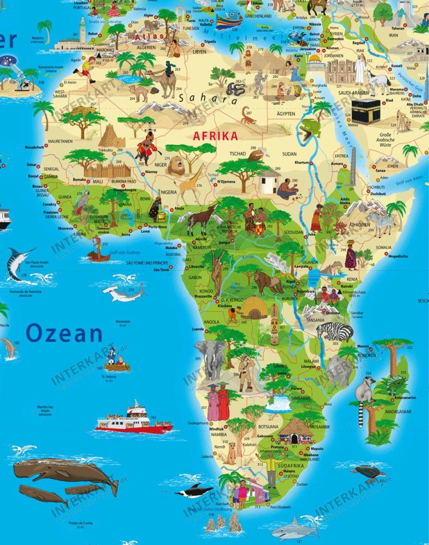قاره افريقيا خريطة العالم