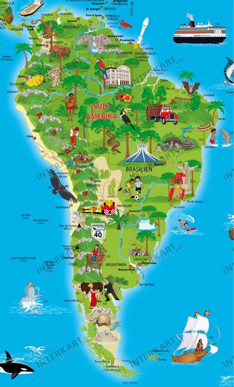 قاره امريكا الجنوبيه خريطة العالم