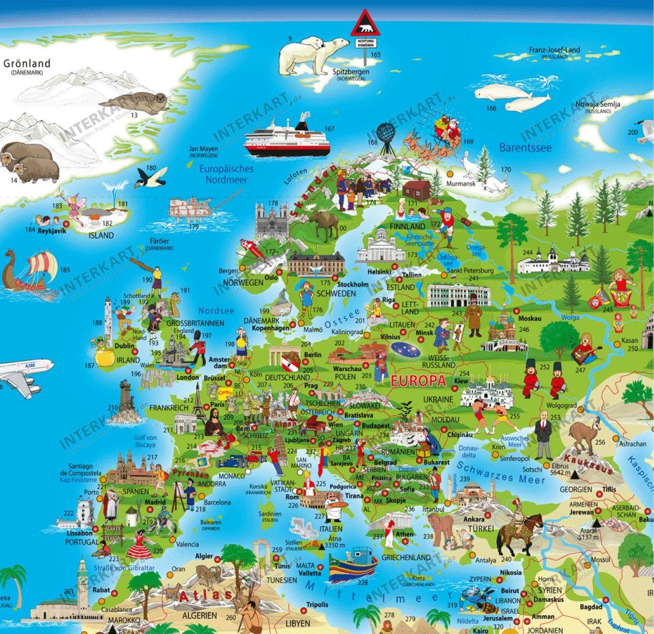 قاره اوربا خريطة العالم