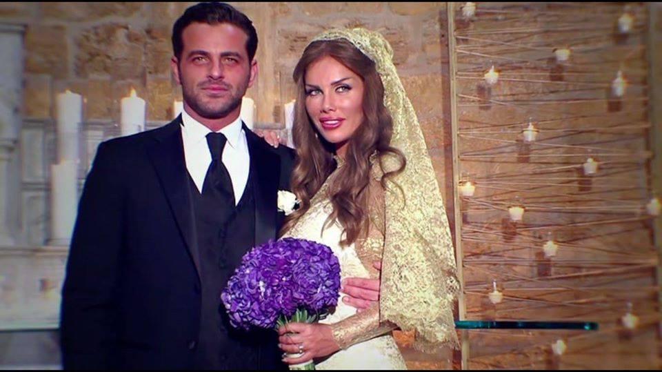 صور زواج نيكول سابا صور زفاف المشاهير والفنانين