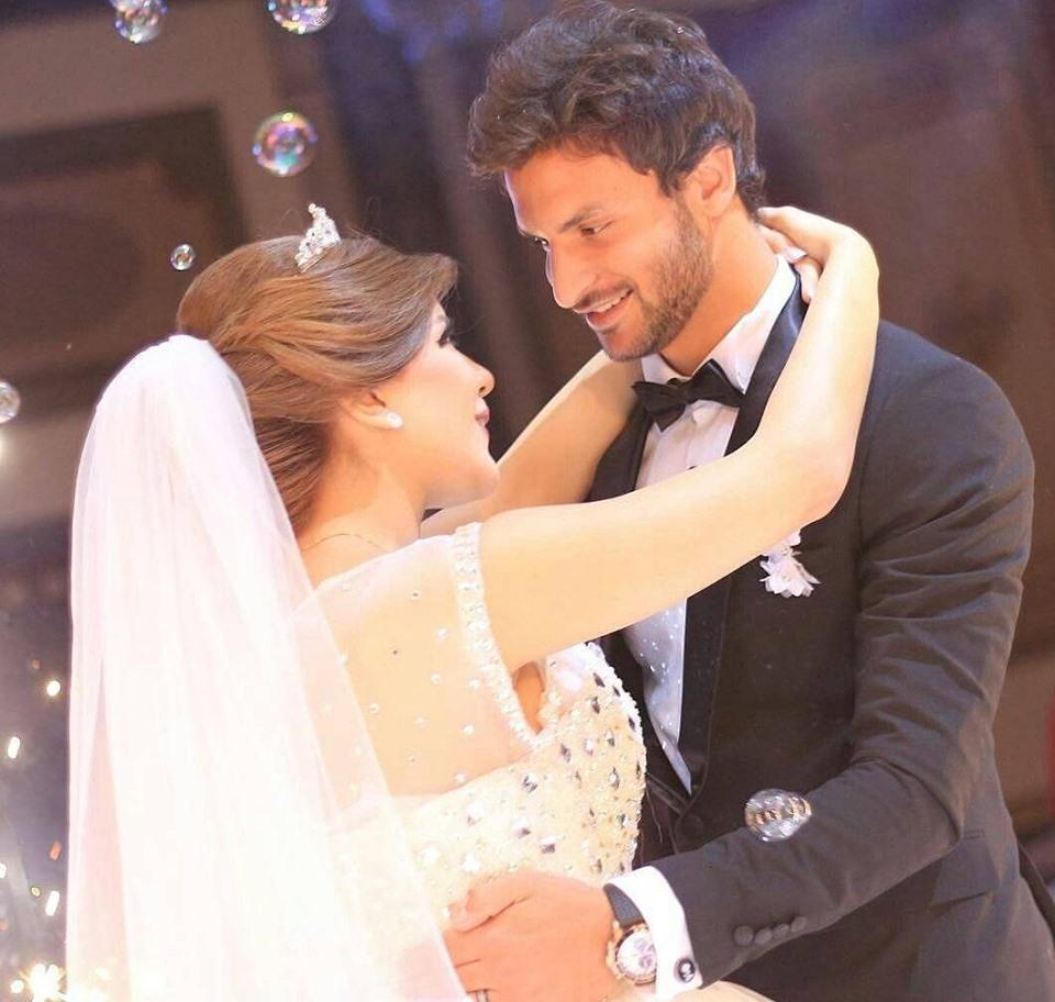 محمد زيدان و زوجته 2 بالصور زوجات نجوم كره القدم المصريه