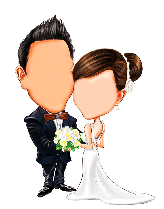 Cartoon poster 4 تصميم صور العرائس كارتون
