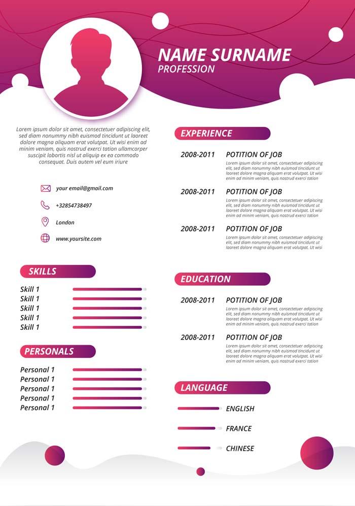 Template CV 11 افضل قوالب و نماذج السيرة الذاتية CV Template