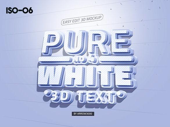 3D text logo mock up 2 موك اب نص ثلاثي الابعاد 3D text logo mock up