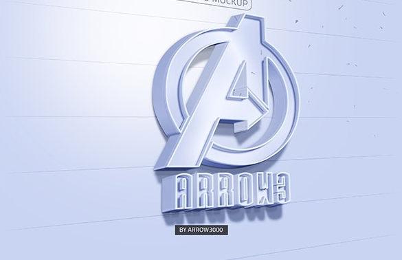 3D text logo mock up 3 موك اب نص ثلاثي الابعاد 3D text logo mock up